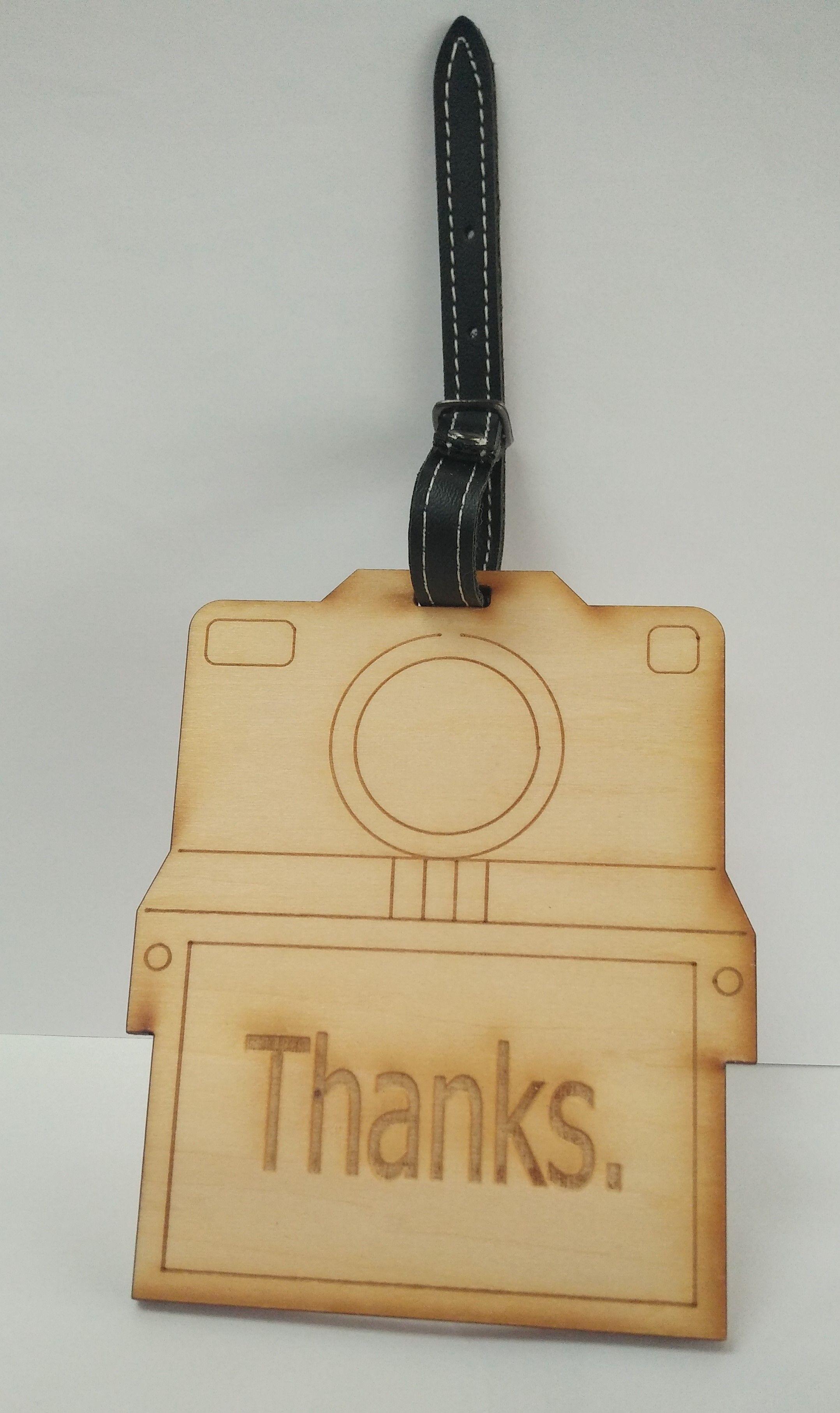 行李箱吊牌 【雷射雕刻】  [ 照相機 ]